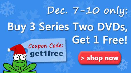 Sale Dec. 7-10, buy 3 get 1 free Series 2 DVD