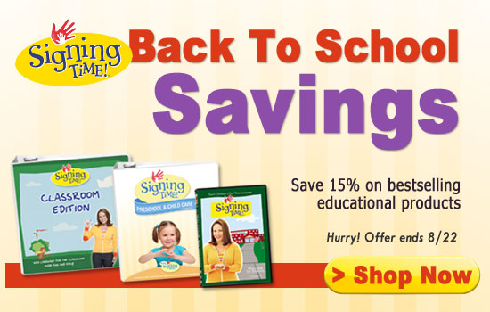 Signing Time Back to School Sale