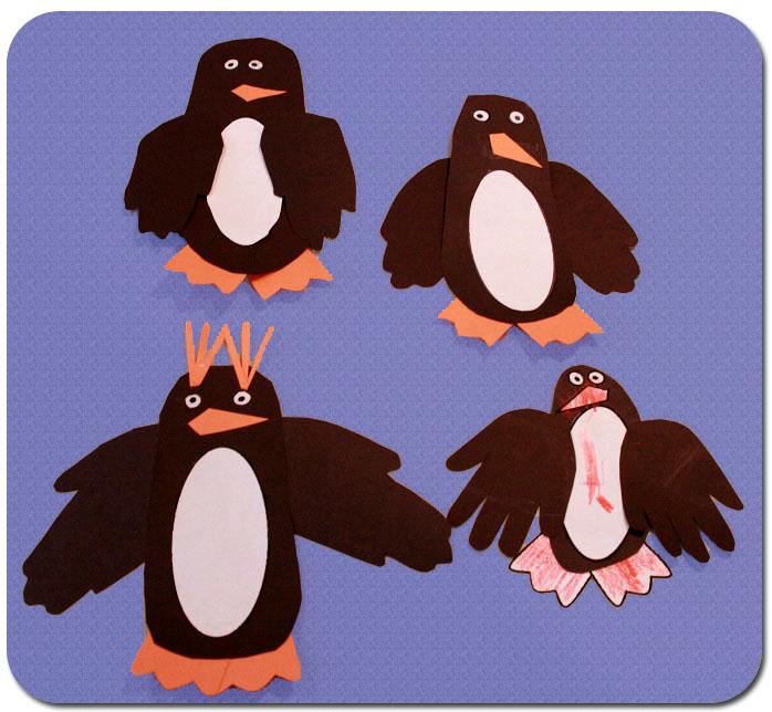 Hand-y Craft Penguins