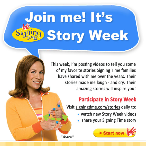 Signing Time Story Week