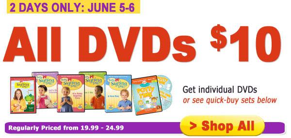 $10 DVD Sale