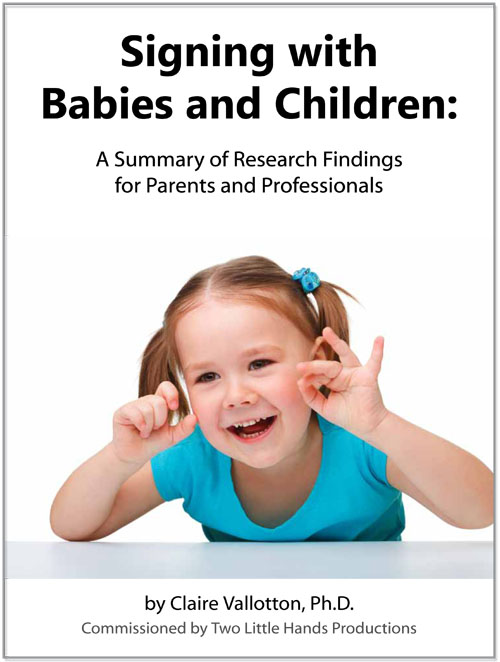 Signing with Babies and Children - white paper